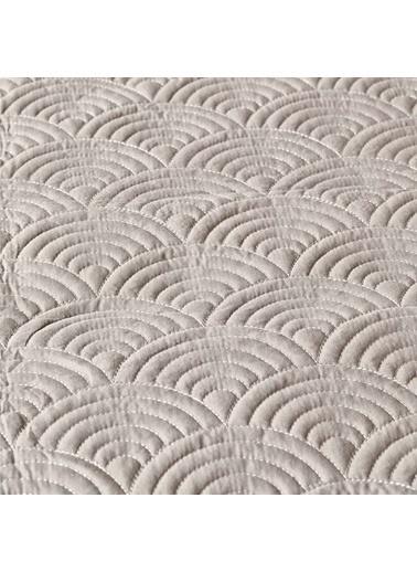 Bella Maison %100 Polyester Tiber Çift Kişilik Gri Yatak Örtüsü 230x240 cm Gri
